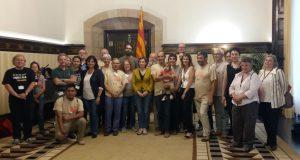 La Presidenta Carme Forcadell rep l'objectiu Catalunya Democràcia Plena al Parlament
